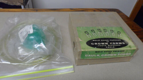 lot f-14. caulk crown form kit + ptp valve mask