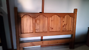 Solid pine Queen timber  bedroom suite Carseldine Brisbane North East Preview