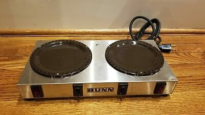 Bunn-o-matic Stainless Steel Dual Burner Coffee Pot Warmer Hot Plate Model Wx-2