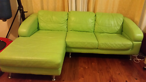 Green 3 seater couch Woodbine Campbelltown Area Preview