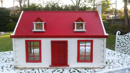 Vintage Wooden Dolls House - English Cottage  Strathfield Strathfield Area Preview