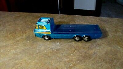 "VINTAGE 6 1/2"" MATCHBOX SUPER KINGS K-21 TRACTOR TRANSPORTER LESNEY ENGLAND 1974"