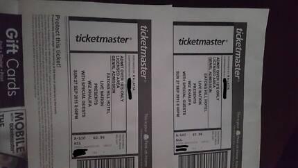 2x wix khalifa tickets brisbane Coolangatta Gold Coast South Preview