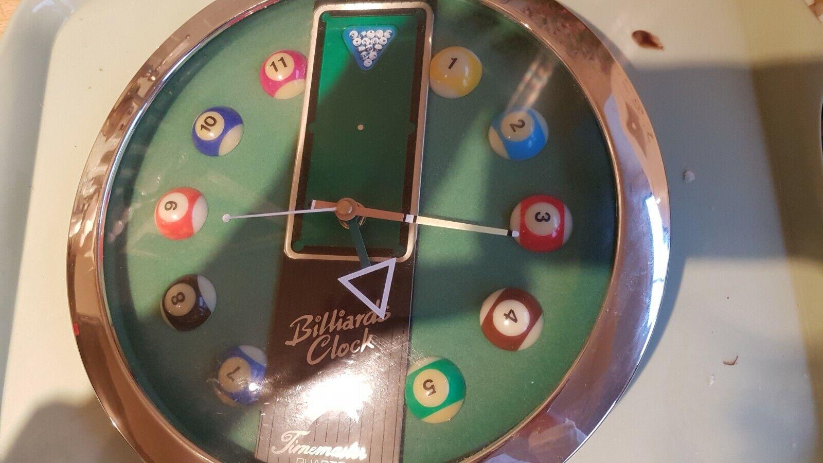 Novelty Timemaster Quartz Billiards/pool/snooker table wall clock