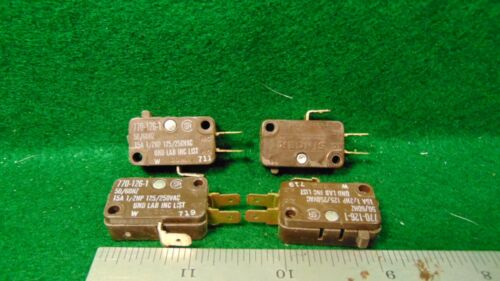 4 SINGER Micro Switch 770-126-1 15 Amp 1/2 HP 125 250 VAC NOS