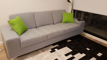 Grey Brosa 3 seater sofa couch