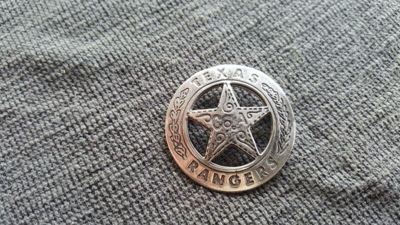 Texas Ranger Sterling Silver Star .925 Badge