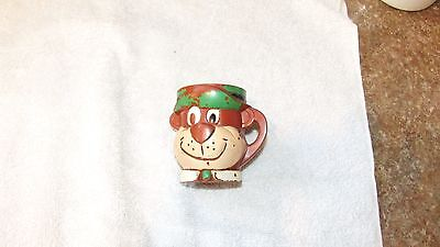 Vintage 1961 F & F Mold and Die Works Hanna Barber YOGI BEAR plastic child mug