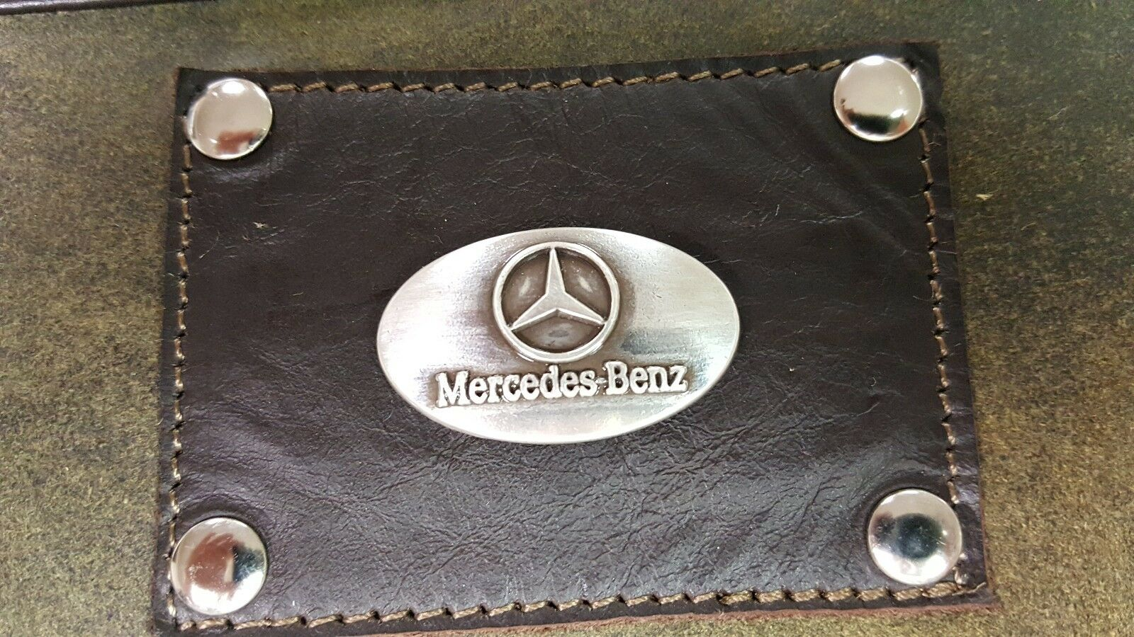 Mercedes Benz 3 Piece Leather Luggage Set- Duffle, Messenger
