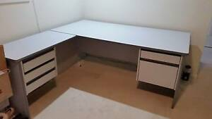 Large office table / Study Desk with return,  and drawers. Used. Rooty Hill Blacktown Area Preview