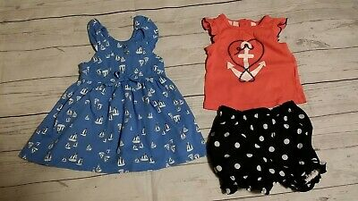 Old Navy Kids Headquarters 12-18 Month Nautical Anchor Dress Top Shirt Bloomers