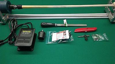 POOL CUE REPAIR LATHE with MANUAL HOW TO PUT ON CUE TIPS FERRULES WRAPS and MORE
