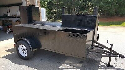 Lockable Storage Sink Mount Bbq Grill Smoker Grill Trailer Food Truck Business