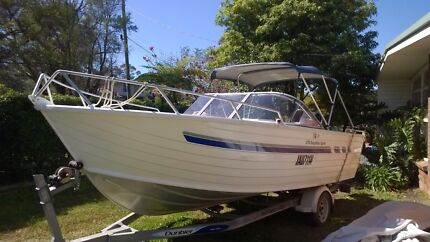 Stacer Easyrider 575 aluminium boat with 140 hp Mercury. Berowra Heights Hornsby Area Preview