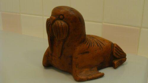 Vintage Wood Hand Carved SEAL/Sea Lion Figurine