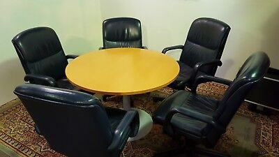 Exclusive Brochstein 42 Custom Built Cherry Wood Conference Table