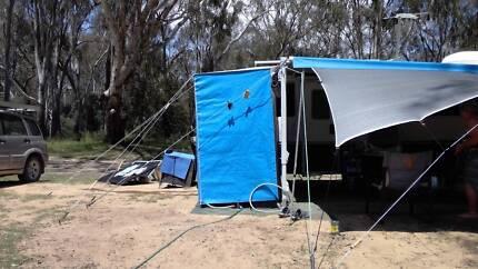 Shower extension caravan annex