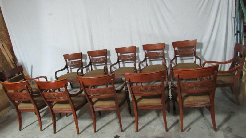Ethan Allen Dining Room Chairs Cherry Set Twelve