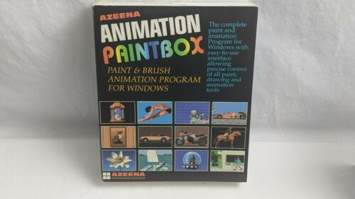 Azeena Technologies Animation Paintbox Software Program For Windows Vintage