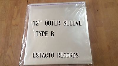 """[ FREE SHIPPING  ] 12"""" VInyl 1000 Outer Sleeves Resealable [ B type ] JAPAN MADE"""