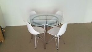 Round Glass Dining Table Artarmon Willoughby Area Preview