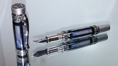 Cardenas-Brister Antique Vintage Midnight Storm Lotus Fountain Pen