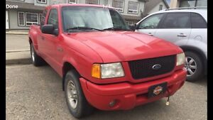2002 Ford Ranger Edge, flareside, 4 door extended cab,$4700.