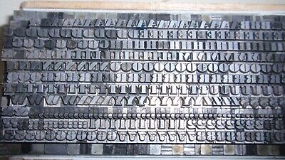 Letterpress Type - 8 Point Ultra Bodoni Uc Lc Numbers Punctuations - Used