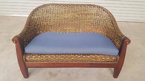 2 Seater  Rattan Wicker Lounge Kunda Park Maroochydore Area Preview