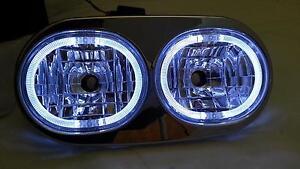 Mutazu Headlight Assembly w/LED Angel Demon Eyes For Harley Road Glide FLTR