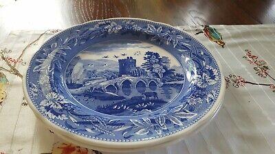 SPODE BLUE ROOM LUCANO / BYRON GROUPS DINNER PLATE SET of TWO (2) NEW ENGLAND
