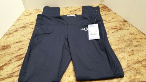TuffRider Ladies Ventilated Schooling Breeches Pants Size Small Navy/Navy