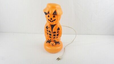 Vintage Light Halloween Jack O Lantern Pumpkin Scarecrow Blow Mold JOL 13""