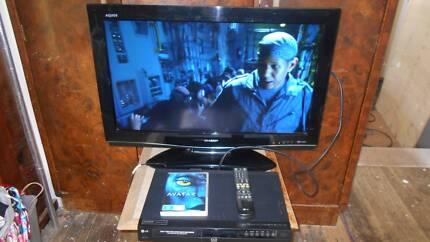 Sharp LCD  32 inch TV + LG DVR /DVD player