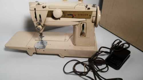 SINGER 431G Slant-o-matic Convertible Free Arm Embroidery Sewing Machine