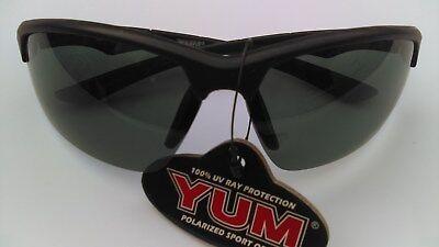 521f89a75d YUM Polarized ballistic style FISHING Sunglasses BLACK frame SMOKE Lens