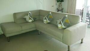Nick Scali Three Seater with Chaise Carrara Gold Coast City Preview