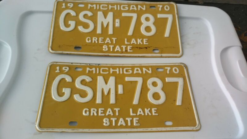 1970 Michigan license plate