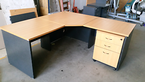 Corner desk under desk drawers file and bookshelf package Rutherford Maitland Area Preview