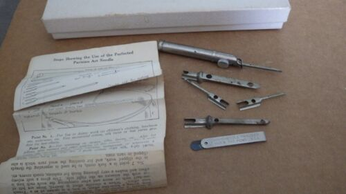 Parisian Art Needle  Vintage with directions and a Rapid Needle threader