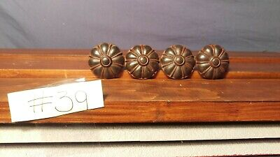 4 bronze colored  cabinet knobs lot for sale  Franklin Square
