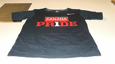Team Canada 2014 Sochi Olympics XL Black Team Pride Hockey T Shirt Youth (Team Canada Hockey-t-shirt)