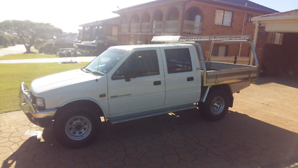 1995 Holden Rodeo Duel Cab DLX White 5 Speed Manual