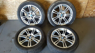 BMW F10 F11 M-SPORT 10-13 STAGGERED DOUBLE SPOKE ALLOY WHEELS TYRES SET R18