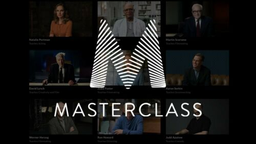 MasterClass account for $6.99 - 1 year