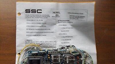 Ssc Model 823 Dc Termination Panel Midland Motorola Nos