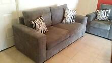 3 piece lounge. Suede grey corderoy. Mudgee Mudgee Area Preview