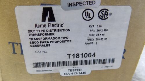 BRAND NEW ACME ELECTRIC TRANSFORMER T181064