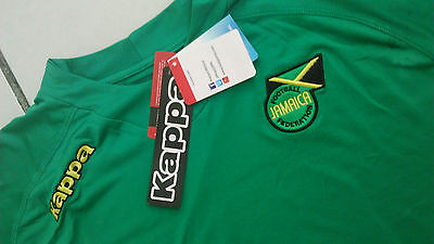 Team Jamaica Mens Official Soccer Jersey Kappa Size XL Green 2013 image