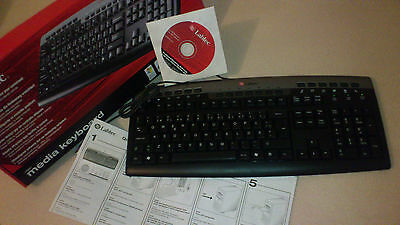 Karton mit 4 Stück Labtec Media Keyboard, PC Tastatur